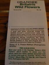 Grandee Cigar Cards BRITAINS WILD FLOWERS - Full set of 30