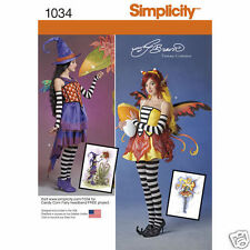 S1034 Misses Amy Brown Fairy Costume Sizes 14-22 Simplicity Sewing Pattern