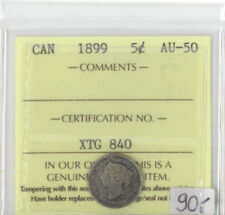 Canada 1899 Five Cents ICCS Certified AU-50  XTG 840