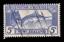 New Zealand 1935 5d Fish perf 13-14x13½ wmk 43 SG 563 used