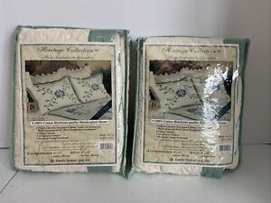 2 NIP Heritage collection queen Shams Pillowcases