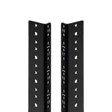 NavePoint 18U Vertical Rack Rail Pair DIY Kit with Hardware