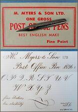 12 vintage M.Myers & Son LTD.No.1896 F Post Office Pens