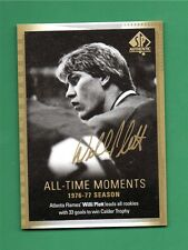 2015-16 SP Authentic All-Time Moments Limited Willi Plett Gold Ink Auto