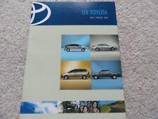 2004 Toyota MR2 Spyder, Celica, Matrix, Echo, Corolla, Camry Sales Brochure