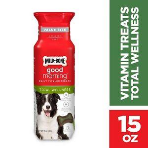 Milk-Bone Good Morning Daily Vitamin Dog Treats, Total Wellness, 15 Ounces