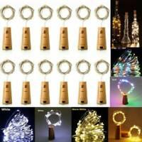 10/20X 20 LED Flaschenlicht Weinflasche Kork Lichterkette Nachlicht Party Light