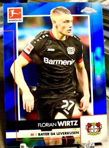 Florian Wirtz 2020-21 Topps Chrome Bundesliga Blue Refractor 138/150! SSP🔥📈🔥