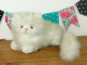 "NWT Russ Nikki White Long Fur Hair Kitty Cat Persian Plush Stuffed Toy 12"" 460"
