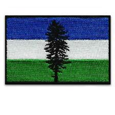"CASCADIA FLAG IRON ON PATCH 3"" Embroidered Applique Pacific Northwest OR WA BC"