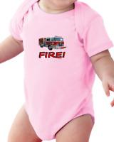 Infant Creeper Bodysuit T-shirt Fire Truck Engine