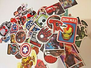 MARVEL DC COMICS VINYL PVC STICKERS SKATEBOARD CAR BIKE LUGGAGE DECALS CARTOONS