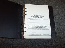 1989 Buick Electra Park Avenue Sedan Original Owner Owner's Operator Manual Book