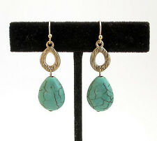 HORSE & WESTERN JEWELLERY JEWELRY WESTERN THEME EARRINGS GOLD TURQUOISE b