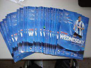 Full set of Sheffield Wednesday home programmes 2005-06 - 25 programmes