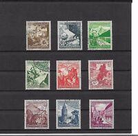 Deutsches Reich,1938 Michelnummer: 675 - 683 o, gestempelt, Katalogwert € 25,00