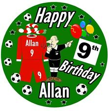 PERSONALISED BIG FUN FOOTBALL BIRTHDAY BADGE, ANY AGE, NAME & TEAM / NEW / GIFTS