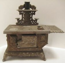 "Antique Cast Iron Toy EAGLE Stove 9"" Lancaster Brand 1900s-20s V Unusual"