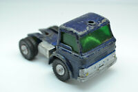 Matchbox Lesney Dark Blue Ford Transport Cab Over Semi Truck - Made In England