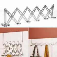 Flexible Door Hanger Bathroom Stainless Steel Organizer Coat Towel Hooks Rack