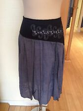 Lisa Campione Skirt Size14 Bnwt Washout Denim Blue RRP £129 Now £32