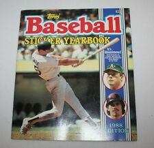 1988 Topps Baseball Sticker Yearbook Unused Excellent Mark McGwire B Santiago