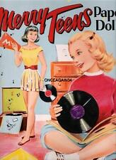 Vintage Uncut 1953 Merry Teens Paper Dolls~Free Ship~#1 Reproduction~Nostalgic