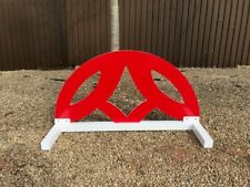 Red Half Moon cut out Show jump Filler-For Showjumping