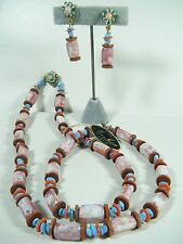 NEW WITH TAG VINTAGE SIGNED  MIRIAM HASKELL DEMI PARURE NECKLACE EARRING SET