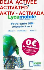 ► CARTE SIM PREPAYEE LYCAMOBILE DEJA ACTIVEE 100% ANONYME ACTIVATED AKTIV PGP !◄