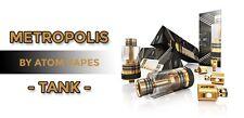 Original Genuine Atom Metropolis Tank 5ml 100% Authentic 24k Gold Fast Shipping!