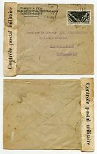FRENCH POLYNESIA WW2 CENSOR to YUGOSLAVIA SINGLE FRANKING 2F50 TRACQUI + FILS