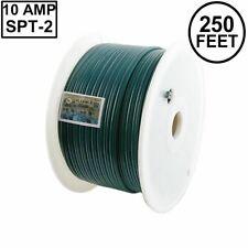 Novelty Lights 250 Foot Zip Cord Wire, Green, 18 Gauge, Spt-2