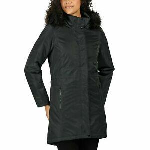 Regatta Womens Lexis Waterproof Insulated Fur Trimmed Hooded Parka ,size 18