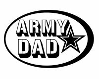 US Army Dad Proud Decal Vinyl Sticker Car Window Wall Logo Military Mom Wife Son