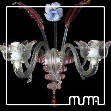 Applique in vetro di Murano 2 luci colori a scelta. Originale Glass Wall Lamp
