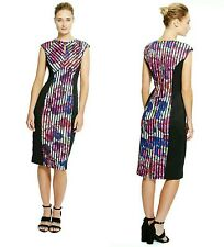 BNWT M&S COLLECTION Floral Bloom Print Colour Block Dress in Size 14 UK