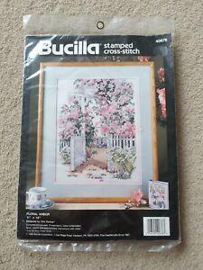 Bucilla -Floral Arbor - Stamped Cross Stich Kit 40676