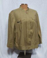 Judith Hart Women's Green Linen Blend Blazer Size 18W