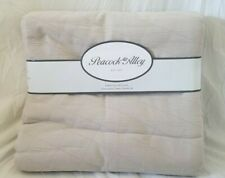 3 pc Peacock Alley Script Taupe King Coverlet & Shams Set $555 NIP