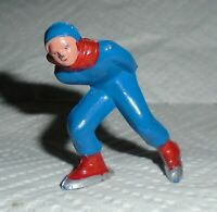 "VINTAGE Barclay Lead ""Man Speed Skater, In Blue, Red Trim"" B180 Near Mint F/S H"