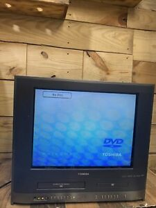 """Toshiba Retro Gaming 20"""" TV VCR VHS DVD Player Combo MW20H63 Tested"""