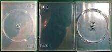 7 CUSTODIE DVD DISCO SINGOLO TRASPARENTI USATE OTTIME CONDIZIONI COME DA FOTO