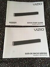 Vizio Sound Bar Manuals Model SB2920-D6