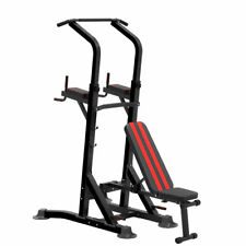 KingKang Multi-Function Power Tower Station Pull Up Bar w/ Dumbbell Bench
