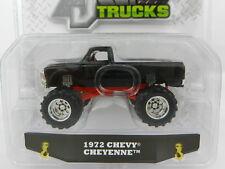 1:64 JADA TOYS *JUST TRUCKS 16* BLACK 1972 Chevy Cheyenne Pickup Truck *NIP*