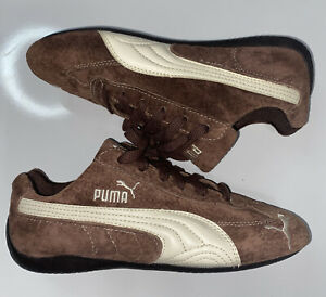 Puma 300521 Brown Leather Suede Driving Athletic Sneakers Sz 7
