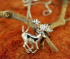 Deer Necklace-Sterling Silver- Deer Pendant Necklace,Gift Idea.