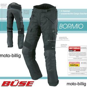 Büse Motorradhose Bormio Herren kurz und lang Textil Cargo Motorrad Hose Thermo