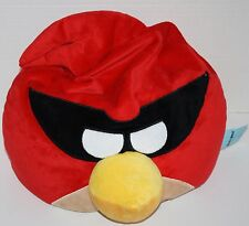 "ANGRY BIRDS 18"" Masked Red Captain Plush Microbead Foam Bead PILLOW 2012 Rovio"